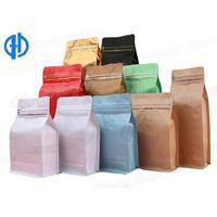 Flat bottom coffee packaging bags