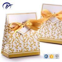 Popular wedding full hot stamped pattern candy packaging paper favor bag