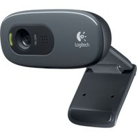 Logitech-C270 HD Webcam (Black) thumbnail image