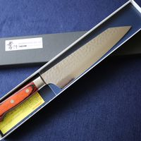 Japanese Kengata Chefs VG10 Damascus Kitchen Knife #07400