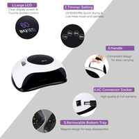 120W LED Nail Dryer 45PCS UV Lamp Heads Automatic Sensor Switch Timing Function Curing All Gel Nail thumbnail image