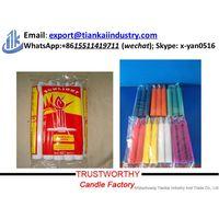 religious use stick white candles wholesale thumbnail image