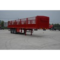 13m Three axles Short lock bar fence semitrailer