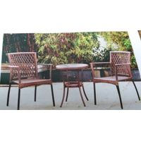 3 pcs ratan bistro set rattan furniture rattan chair and table