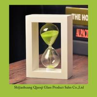Wood sand timer, Wooden frame hourglass, 10 minutes sand timer