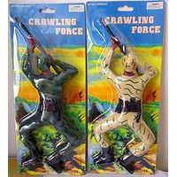 Crawling Soldier Force Toy Lights & Sounds, Battery-operated Climb Soldier Shooting Gun Military Fig