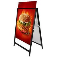 Double side strong anti-wind outdoor poster stand H3