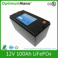 Screw Connected 12v 100ah lifepo4 battery for solar system