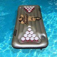 inflatable beer pong mattress
