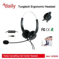Double Ear Style Wired Headset With Directly UC USB Headset Connector For Unified Communication