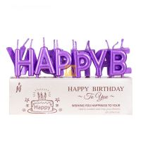 Gold Happy Birthday Letter Candles