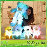 Custom LED soft kids toys colorful teddy bear thumbnail image