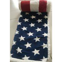 Micro plush sherpa blanket U.S Flag