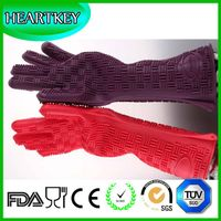 bbq oven mitt/silicone glove and Silicone Material oven mitt