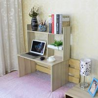 MDF wooden kids study table on bed