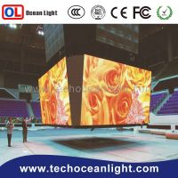 Double sides steel structure solar led screen advertising billboard