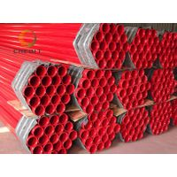 ERW Red Color Fire Pipe  Fire Pipe  Low Pressure Fluid Pipe Manufacturer   galvanized Fire Pipe