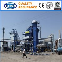 80t/h stationary asphalt batch mix plant