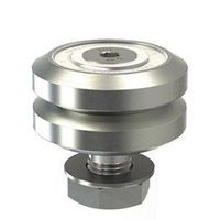 LJ34, 70 degree V rail studded wheel,
