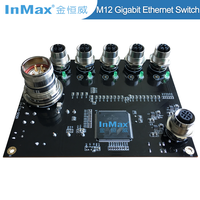 InMax EN505A M12 5 Port Gigabit Car Industrial Ethernet Switch