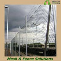Galvanized Diamond Wire Mesh Fence/Chain Link Fencing