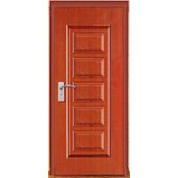 Moistureproof steel security door with pvc coating