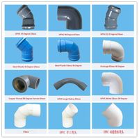 2015 hot sale pvc plastic pipe fittings elbow made in China with good price