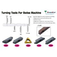 Carbide inserts, Turning tools for Swiss machine