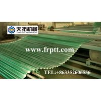 FRP transversal corrugated tile making machine