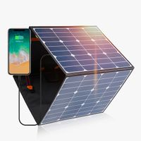 150W - 200W foldable solar panel charger price with controller thumbnail image