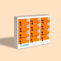 12-bay phone/tablet charging station/locker