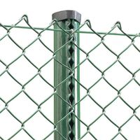 High Quality Fence Black Green blue Chain Link Fence From industry For decorative screen mesh fenci