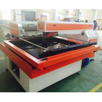 double laser head opposed cutting die board MDF lase cutting machine