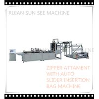 ZIPPER AND SLIDER BAG MACHINE