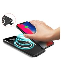 New Design LED Screen Qi Wireless Power Bank 10000mAh Charger Wireless For Samsung Iphone
