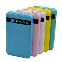 SJ-P80L 8000mAh textured indicator dual USB high quality large portable power bank