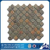 wholesale floor decoration irregular natural stone mosaic