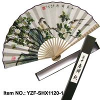 high quality hand painted Chinese calligraphy fan