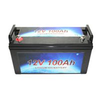 deep cycle rechargeable battery 12V 100ah solar lithiumion battery thumbnail image