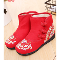 New arrival wholesale girl old Beijing cloth shoes ethnic style thermal warm comfortable ankle boots