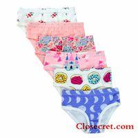 Closecret Kids Series Soft Cotton Baby Panties Little Girls' Assorted Briefs(Pack of 6) thumbnail image