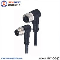 M12 Circular Sensor Connector PUR Molded Cable Female Male thumbnail image