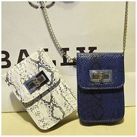 china wholesale cell phone bag trendy snake leather phone holder with long chain SY5046
