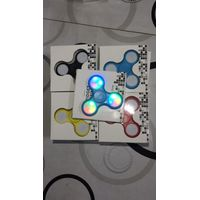 LED Light 3 Bar Fidget Spinner EDC Stress Cure Toy ABS Hand Spinner