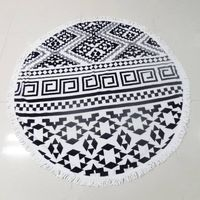 Luxury 100% Cotton Watermelon Shaped Round Beach Towel 59 inches