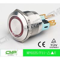 CMP dia.22mm 1NO1NC Illuminated LED Momentary Metal Push Button Switch