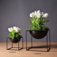 2017 Designer metal flower vase floor vase for home accessory