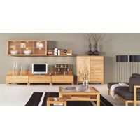 SOLID OAK LIVING ROOM SET