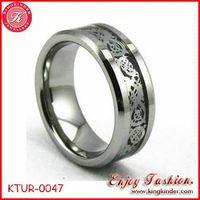 Silver Dragon Tungsten Ring, Wedding Ring, Tungsten Ring Wholesale