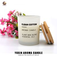 Free Sample Natural Scented Candle In Glass Jar With Wooden Lid thumbnail image